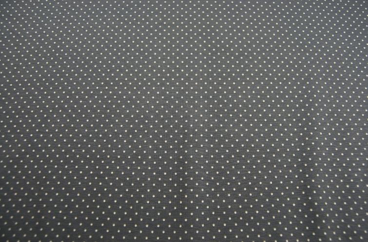 JERSEY - Grau mit Minipunkten -