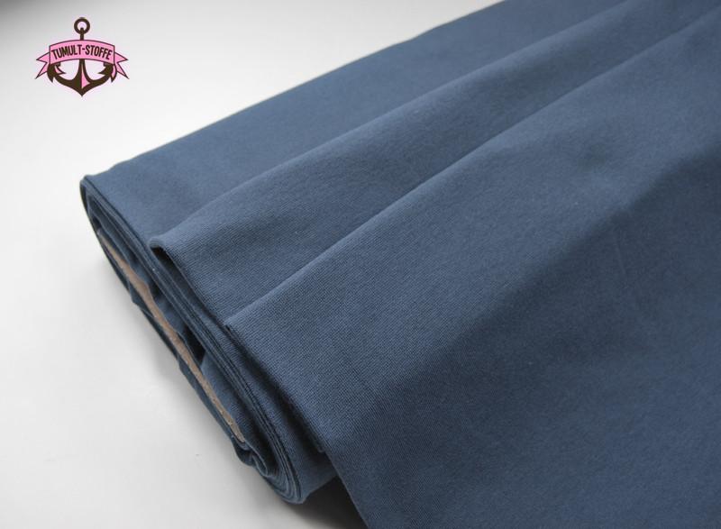 Leichtes Bündchen Jeansblau cm im Schlauch