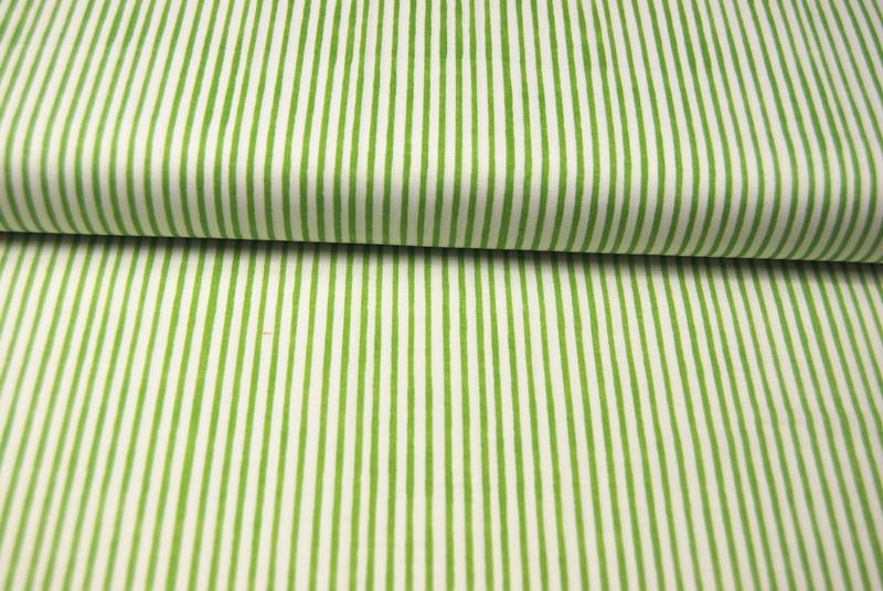 Lazy Stripes - Grüne Streifen Baumwolle