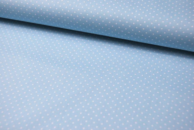 Petit Dots auf Hellblau - Baumwolle 0,5 m