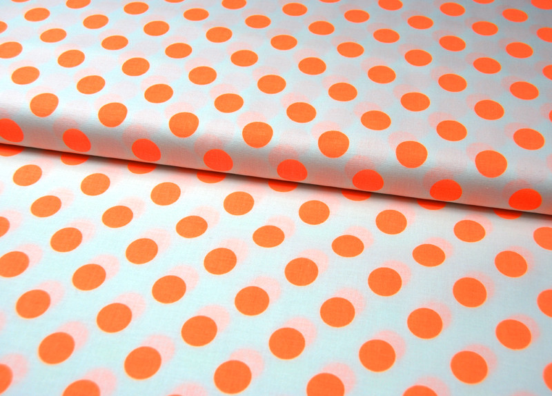 Neon Dots Neon Orange Punkte von