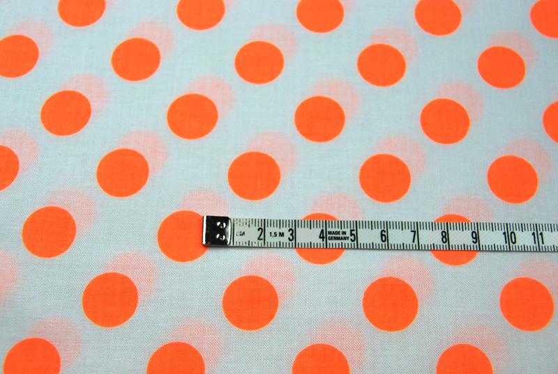 Neon Dots - Neon Orange Punkte von R.Blake 0,5 m