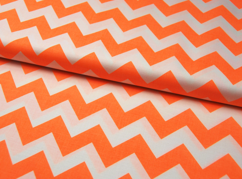 Neon Medium Chevron - Neon Orange 0,5 m