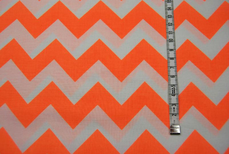 Neon Medium Chevron - Neon Orange
