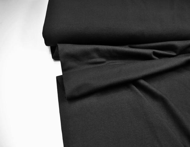 Leichtes Bündchen - Schwarz - 25 cm im Schlauch