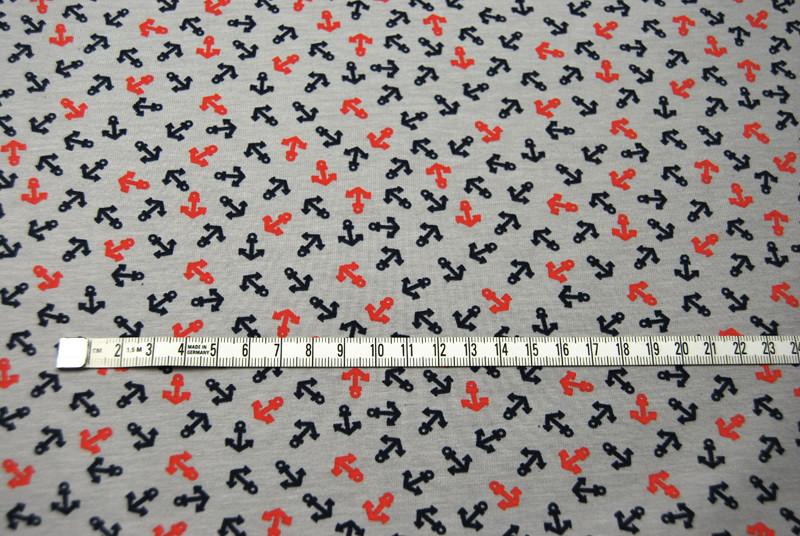 Jersey - Grau mit kleinen Ankern - 0 5 m