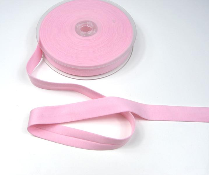 Baumwoll Schraegband - Rosa - 1 Meter