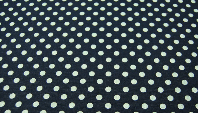 Mint Punkte auf Blau - Baumwolle-Leinen 0,5m