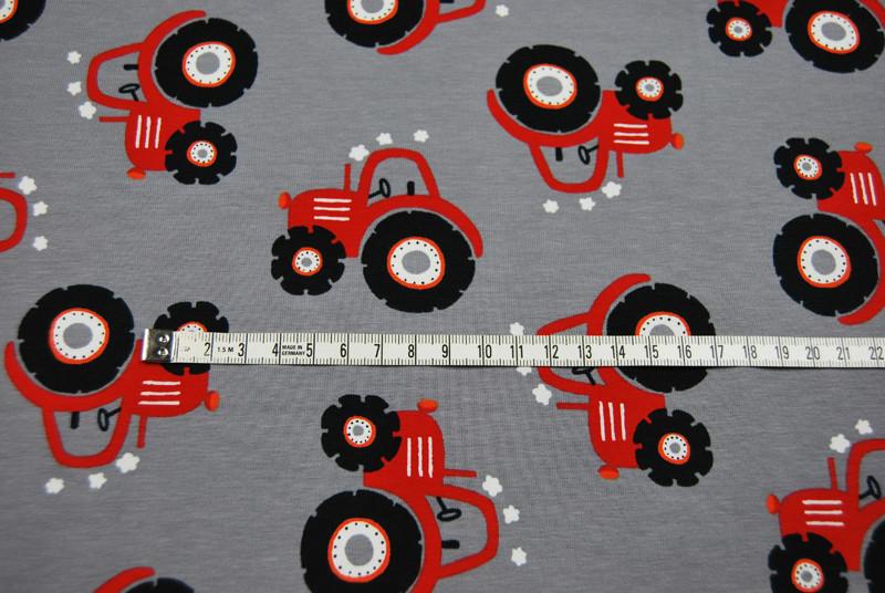 Jersey - Rote Trecker auf Grau - 0,5 Meter - 2