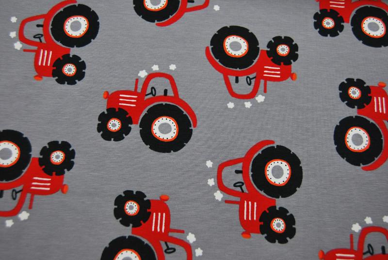 Jersey - Rote Trecker auf Grau - 0 5 Meter