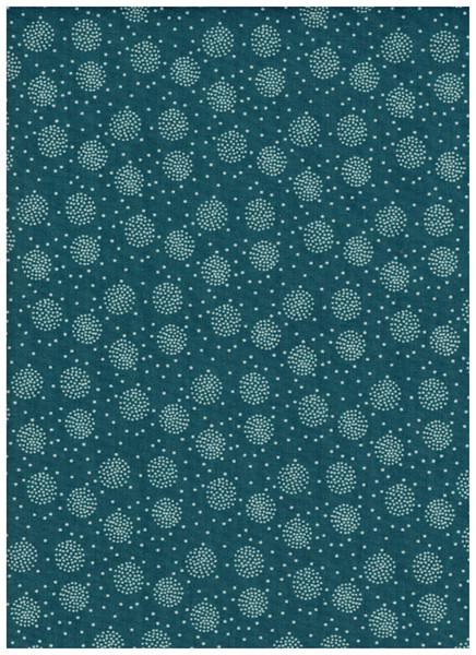 Beschichtete Baumwolle -Pusteblume Petrol 50x69cm - 1