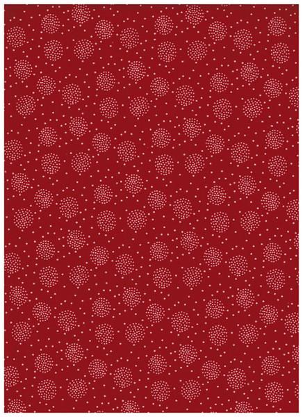 Beschichtete Baumwolle -Pusteblume Rot 50 x