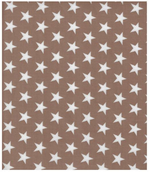 Beschichtete Baumwolle Sterne auf Beige 50x140cm
