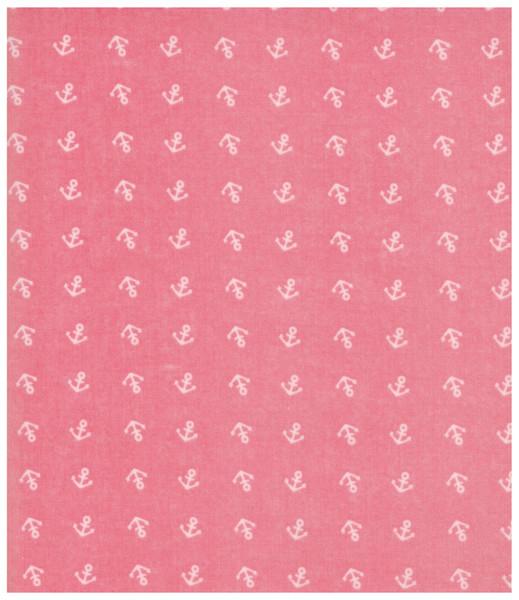 Beschichtete Baumwolle Anker auf Rosa 05m