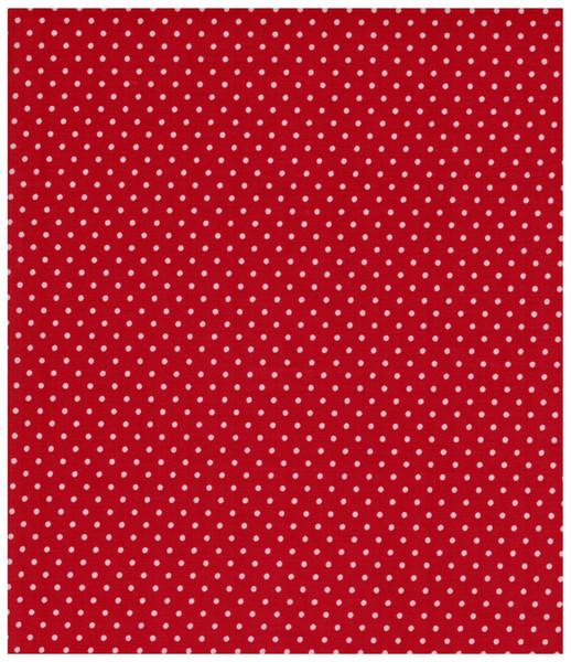 Beschichtete Baumwolle - Punkte auf Rot - 0 5m