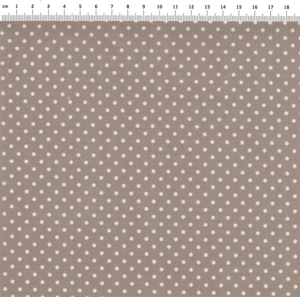 Beschichtete Baumwolle Punkte auf Beige 140cm