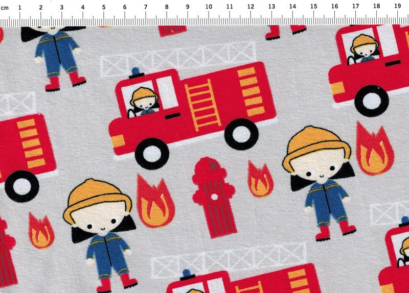 Jersey - Ta Tue Tata Feuerwehr auf Hellgrau - 0 5m