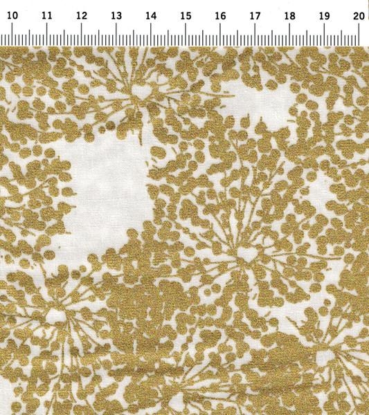 White Allium Gold Lauchblüte in Gold - 2