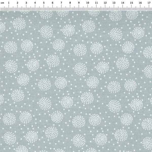 Beschichtete Baumwolle -Pusteblume Grau 50 x 69 cm