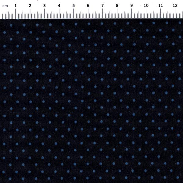 JERSEY - Nachtblau mit blauen Punkten - 0,5 m