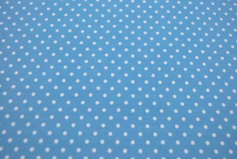 JERSEY - Hellblau mit weissen Punkten - 0 5 m