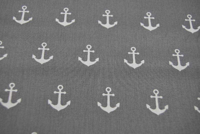 Anchor Party - Anker auf Grau 0 5m