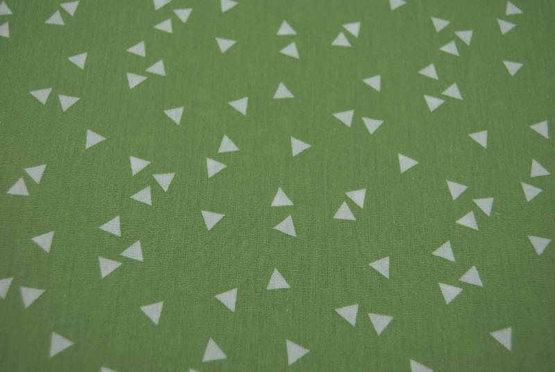 Triangle Dreiecke auf Grün Baumwolle 05m