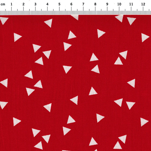 Triangle - Dreiecke auf Rot - Baumwolle 0,5m