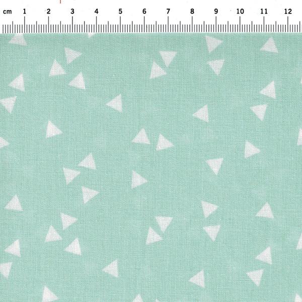 Triangle Dreiecke auf Mint Baumwolle 05m - 1