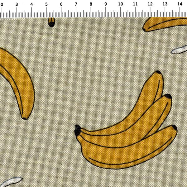 Bananen auf Natur - Dekostoff - - 2