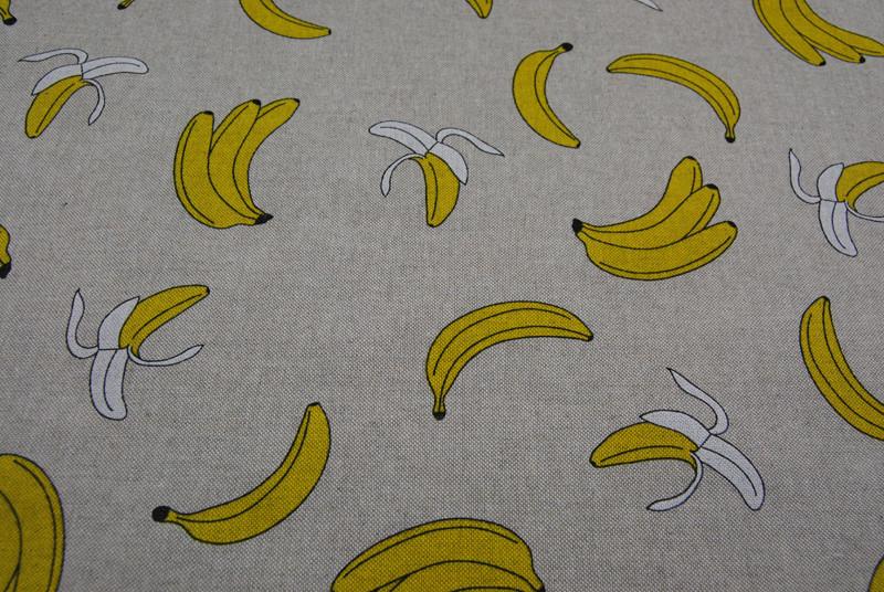 Bananen auf Natur - Dekostoff - 0 5m