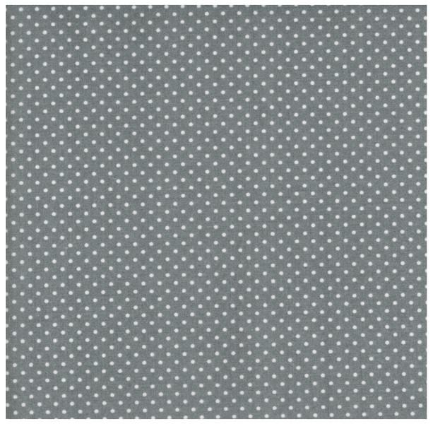 Beschichtete Baumwolle - Punkte auf Grau - 50x69cm - 1