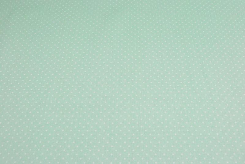 Petit Dots auf Mint Baumwolle 05m