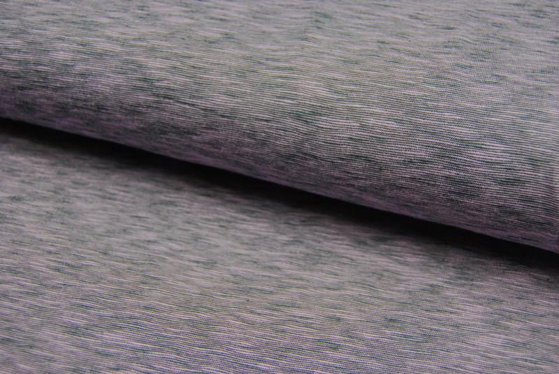 JERSEY : Flieder Grau Meliert -