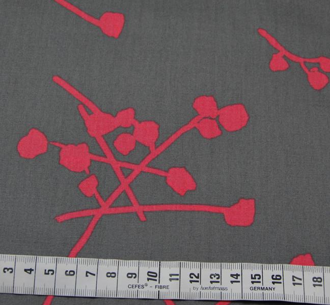 Baumwolle - Buttonballs Gloss - Zweige-Blüten 0,5m - 2