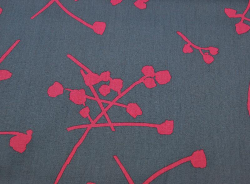 Baumwolle - Buttonballs Gloss - Zweige-Blüten