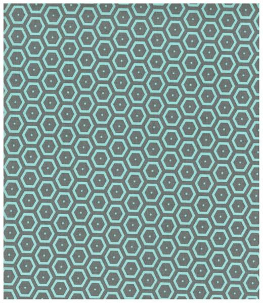 Beschichtete Baumwolle - Hexagon 50 x