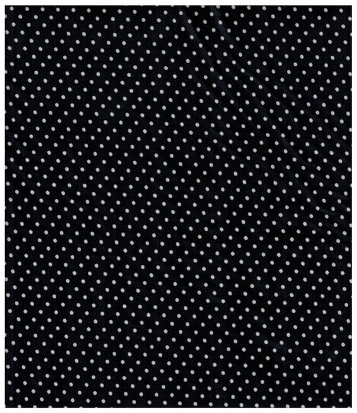 Beschichtete Baumwolle Punkte auf Schwarz 50x69cm - 1