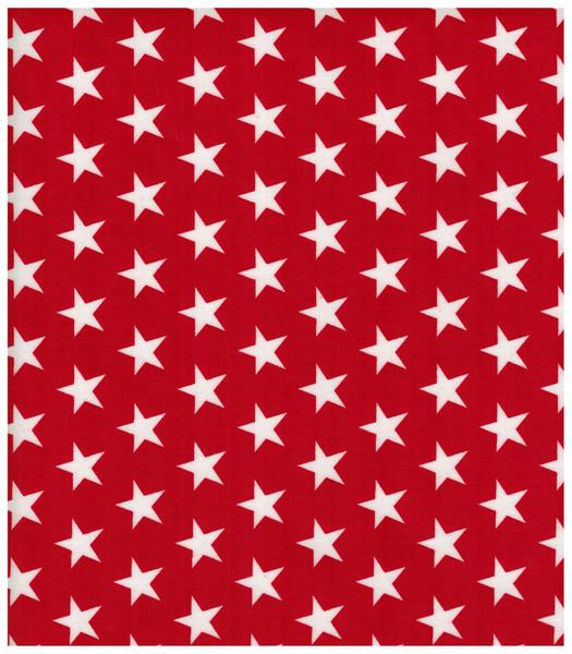 Beschichtete Baumwolle - Sterne auf Rot 50x70 cm