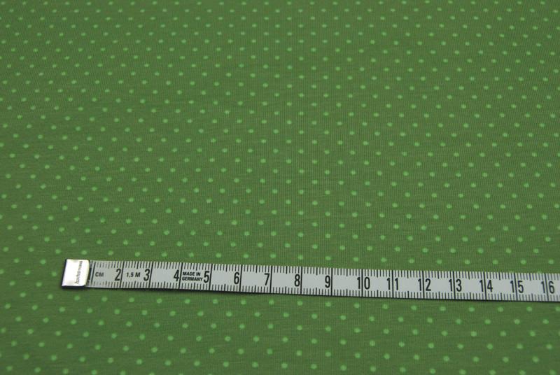 JERSEY - Gruen mit hellgruenen Punkten - 0 5 Meter