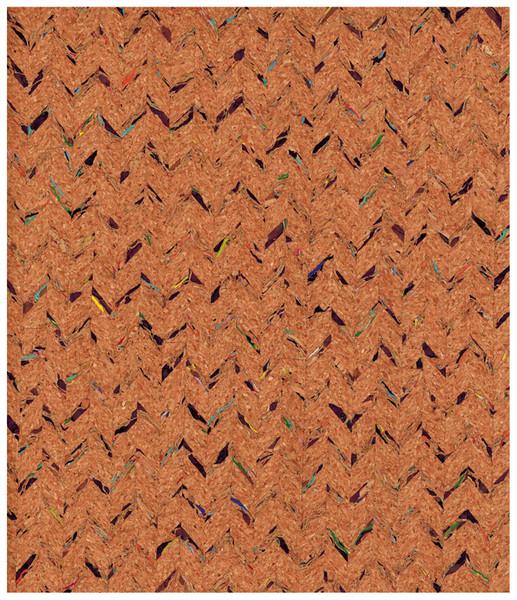 Korkstoff mit Einwebungen - Stück � 50 x 60 cm