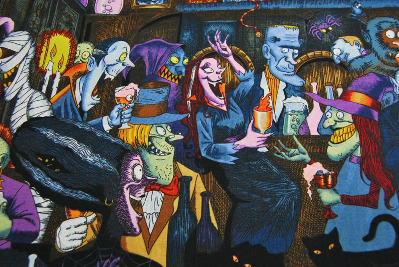 unhappy hour- Baumwolle von Alexander Henry 0,5m - 2