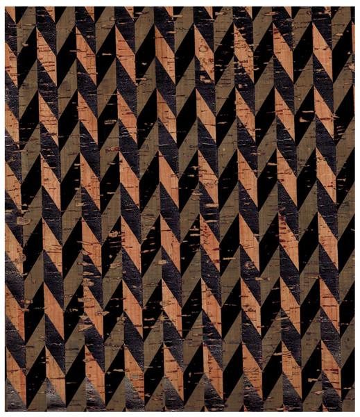 Kork mit Druck in Schwarz - Stueck 50 x 65 cm