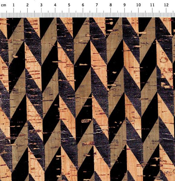 Kork mit Druck in Schwarz - Stück � 50 x 65 cm