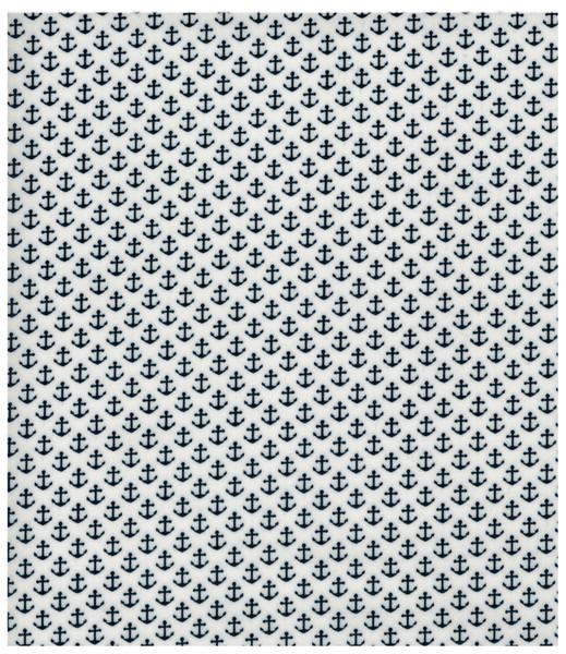 Beschichtete Baumwolle Anker auf Weiß 50x70 cm - 1