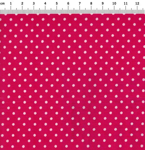Beschichtete Baumwolle - Punkte auf Pink 66x50cm - 1
