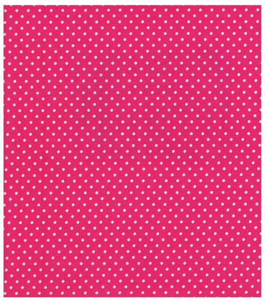 Beschichtete Baumwolle - Punkte auf Pink 66x50cm