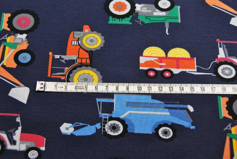Jersey - Landmaschinen auf Dunkelblau - 0 5 Meter