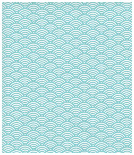 Beschichtete Baumwolle Wellenmuster Hellblau 50x78cm - 1