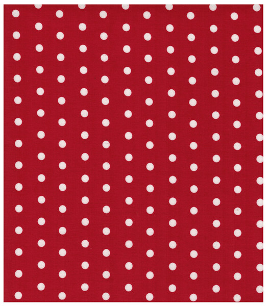 Beschichtete Baumwolle Weisse Dots auf Rot 50x73cm